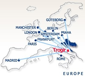 How to reach Trogir?By plane